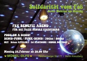Möbel Olfe Soli-Abend für Freie Schule Kreuzberg
