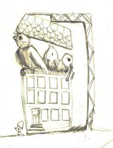 Kueken-Zeichnung
