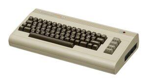 Ein alter Commodore 64, ein früher Heimcomputer, welcher 1982 vorgestellt wurde.
